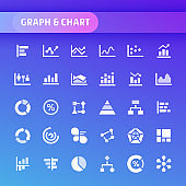 Graph & Chart Vector Icon Set.