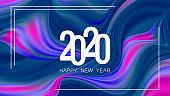 Happy New Year 2020 Holiday Vector Illustration. EPS 10