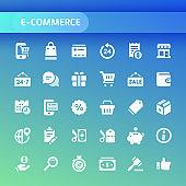 Ecommerce Vector Icon Set.