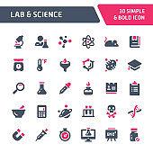 Lab & Science Vector Icon Set.