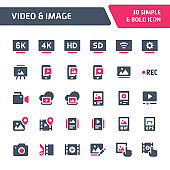 Video & Images Vector Icon Set.
