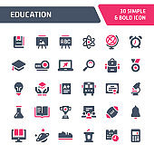 Education Vector Icon Set.
