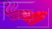 Abstract background. Bright colorful dynamic shapes. Wave with 3D effect. Eps10 vector illustration for Flyer, Banner, Blank, Business Presentation.