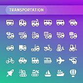 Transportation Vector Icon Set.