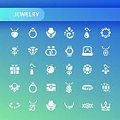 Jewelry Vector Icon Set.
