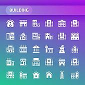 Building Vector Icon Set.