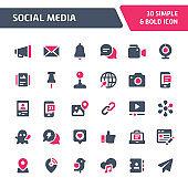 Social Media Vector Icon Set.