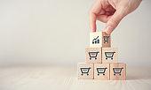 sale volume increase make business grow.