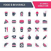 Food & Beverage Vector Icon Set.