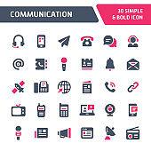 Communication Vector Icon Set.