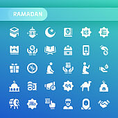 Ramadan Vector Icon Set.