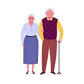 Happy seniors couple.