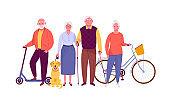 Active senior citizens.