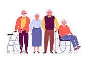 Group of senior citizens.
