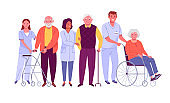 Elderly people care.