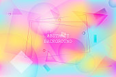 Bright vibrant background with geometric shapes
