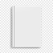 White rectangular book or photobook cover mockup