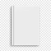 White rectangular book or photobook cover mockup