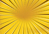 Abstract yellow dotted and striped background