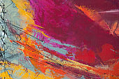 Colorful Texture Acrylic Painting on Canvas