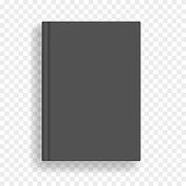 Black vector blank realistic A4 book mockup