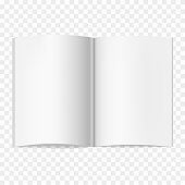 Opened vector realistic journal mockup of A4