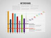 Isometric Metered Bars Infographic