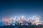 City night view of Chongqing, China