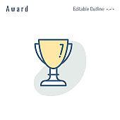 Trophy, Award icon, Medal, Success, Achievement, Leadership, Perfection, Championship, Celebrity award, Editable Stroke