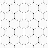 Vector monochrome seamless pattern. Geometric background with hexagons.