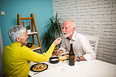 Couple sharing a meal