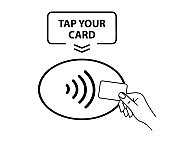 NFC Payment. Contactless payment icon. Contactless NFC wireless pay sign. Tap to pay concept - vector sign.