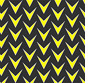 Seamless vector abstract pattern with repeat yellow geometric elements. Dark abstract background for design, fabric, textile, web and advertising banner
