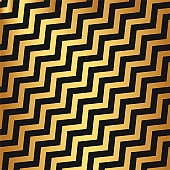 Vector diagonal zigzag pattern/ Black and gold stylish trendy background/ Golden texture pattern