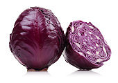 Fresh red cabbage isolated on white