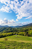 Carpathians countryside in springtime
