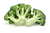 Fresh green broccoli isolated on white