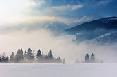 blizzard in mountains