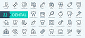 Thin line web icon set