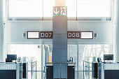 Indoor airport gates
