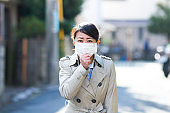 Woman caught a cold