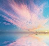 Beautiful seascape sky