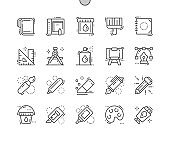 Paint Well-crafted Pixel Perfect Vector Thin Line Icons 30 2x Grid for Web Graphics and Apps. Simple Minimal Pictogram