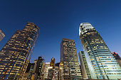 Skyline of downtown of Hong Kong city