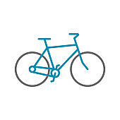 Bicycle sign icon in flat style. Bike vector illustration on white isolated background. Cycling business concept.