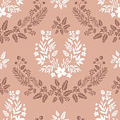 Christmas  floral seamless pattern