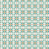 Geometric shapes seamless vector pattern. Abstract petal shapes background.