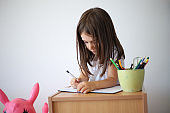 The girl writes