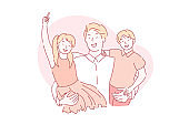 Fathers day, fatherhood, paternity concept.