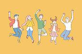 Childhood, friendship, party concept